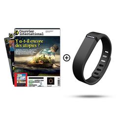 Image de Courrier international 12 mois + un Fitbit Flex noir en cadeau