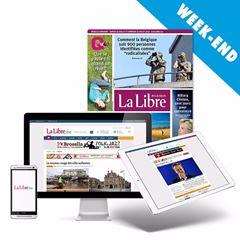 """Image de NOUVEAU : abonnement """"Week-end"""" : La Libre chaque samedi en papier et en 100% numérique toute la semaine"""