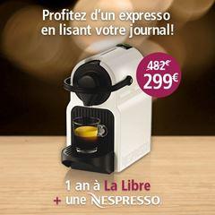 Image de Abonnement Intégral : 1 an à La Libre + une machine Nespresso Krups pour  299 €