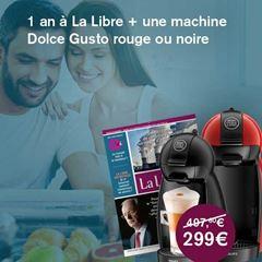 Image de Abonnement Intégral : 1 an à La Libre + une machine Dolce Gusto pour  299 €