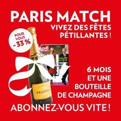 Image de 6 mois à Paris Match pour 51 € et en cadeau 1 bouteille de champagne !