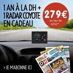 Image de Abonnement intégral : 1 an à la DH + 1 détecteur de radars fixes et mobiles Coyote pour  279 €