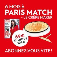 Image de 6 mois à Paris Match pour 69 € et en cadeau un crêpe maker!