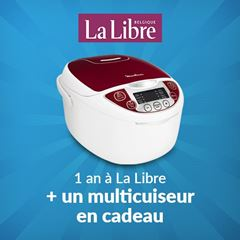 Image de Abonnement Intégral : 1 an à La Libre + un multicuiseur Moulinex pour  299 €