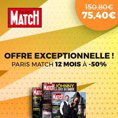 Image de 12 mois à Paris Match à -50% !