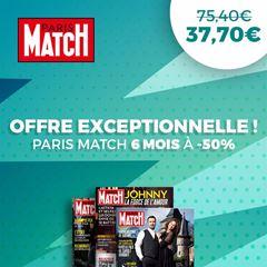 Image de Paris Match - intégral - 6 mois à 37,70€ seulement !