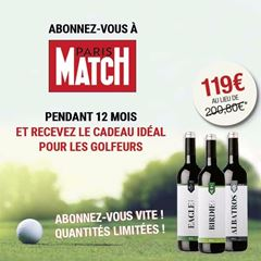 Image de Paris Match - 12 mois + Giftpack vin spécial golf