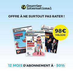 Image de Courrier international pendant 12 mois à 98€