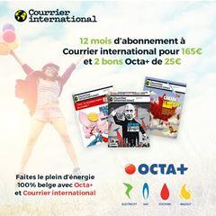 Image de Courrier international 12 mois à 165€ + 2 bons Octa +