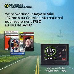 Image de Courrier international 12 mois + un radar Coyote Mini pour 175€ seulement!