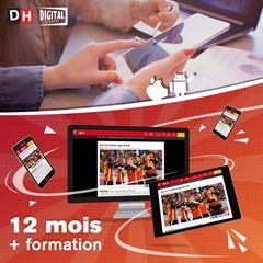Image de 12 mois à La DH Numérique+ avec une formation personnelle pour PC, tablette et smartphone.