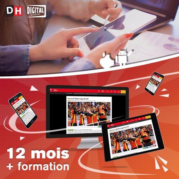 Image sur 12 mois à La DH Numérique+ avec une formation personnelle pour PC, tablette et smartphone.