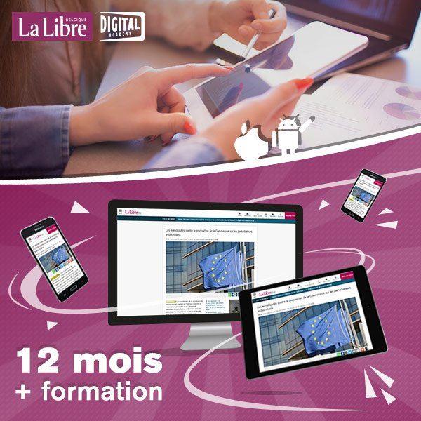 Image sur 12 mois à La Libre Numérique+ avec une formation personnelle pour PC, tablette et smartphone.