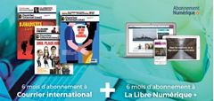 Image de 6 mois à Courrier international + 6 mois à La Libre Numérique+ gratuits