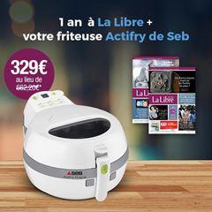 Image de 12 mois à La Libre et recevez une friteuse Actifry de Seb