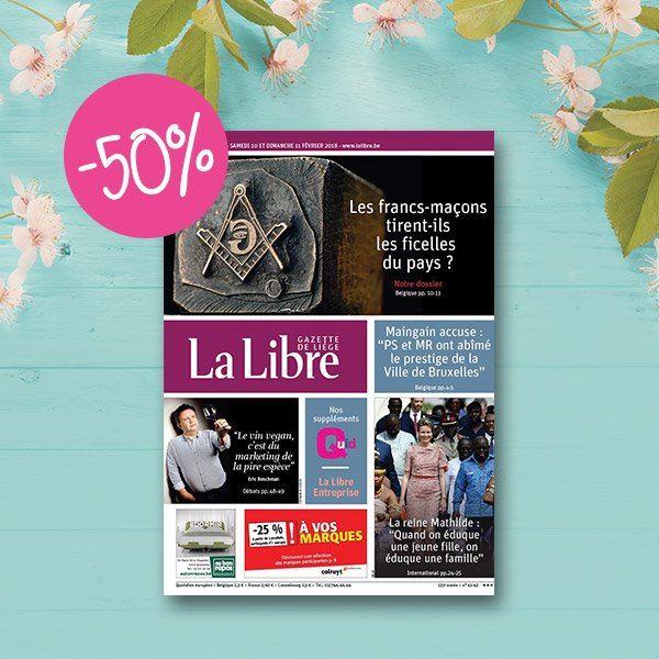 Image sur Abonnement Papier : 6 mois d'abonnement Intégral à La Libre à -50% :  133 €