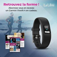 Image de Abonnement Intégral : 1 an à La Libre + un bracelet Garmin Vivofi t 4 pour  309 €