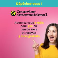 Image de Courrier international : offre flash 50%