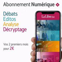 Image de La Libre Numérique+: vos 2 premiers mois pour 2€ puis 9,99€ par mois, sans engagement, annulable à tout moment.