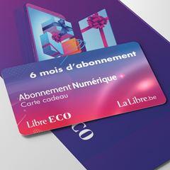 Image de Carte cadeau : Offrez 6 mois d'accès illimité à La Libre (-50% sur la valeur de l'abonnement)