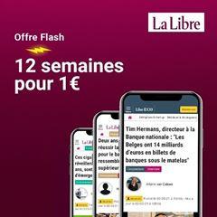 Image de La Libre Numérique +:  12 semaines pour 1€, puis 12€ par mois